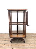 Early 20th Century Oak Revolving Bookcase (2 of 8)