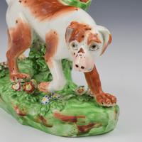 Fine Derby Porcelain Figure Model of Pointer Dog c.1800 (10 of 12)