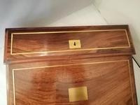 19th Century Mahogany & Olive Wood Shallow Writing Slope (2 of 8)