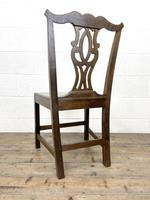 Set of Four Country Oak Dining Chairs (10 of 10)