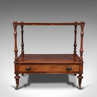 Antique Two Tier Side Table, Mahogany Whatnot, Regency Canterbury, Display Stand (2 of 12)