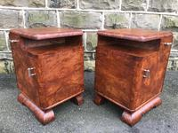 Pair of Art Deco Burr Walnut  Bedside Cabinets (7 of 10)