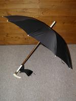 Antique Ladies Black Canopy Umbrella & Repousse GP Collar With Vacant Cartouche (9 of 11)