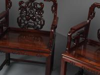 Pair of Chinese Qing Dynasty Hongmu Throne Chairs (9 of 12)