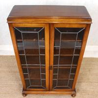 Oak Leaded Glass Bookcase (4 of 15)