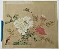 Chinese Watercolour on Silk, Lignan School, Early 20th Century, Unframed (2 of 6)