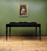 Antique Black Ebonized Console Table with Drawers & Moustache Back (2 of 22)