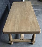 Bleached Oak Wide Farmhouse Dining Table (3 of 15)