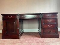 Large Georgian Style Double Sided Partners Desk (47 of 51)