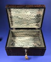 Victorian Walnut Tunbridge Ware Inlaid Jewellery Box (11 of 11)