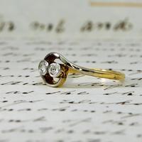 The Antique Old Cut Bezel Set Toi Et Moi Ring (2 of 5)