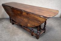 Large Oak Drop Leaf Table, Gate Leg Table, Dining Table - Seats Eight Persons (2 of 9)