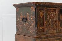 18th Century Painted Trunk on Stand (4 of 13)
