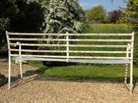 English Regency Wrought Iron Strapwork Garden Bench (9 of 9)