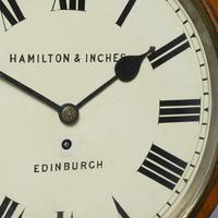 Oak Fusee Wall Clock by Hamilton & Inches (3 of 6)