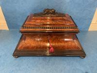 Victorian Burr Cedar & Ebony Shaped Tea Caddy (19 of 20)