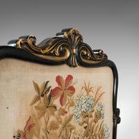 Antique Fireside Screen, English, Panel, Needlepoint, Tapestry, Regency c.1820 (2 of 12)