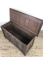 Early 20th Century Carved Oak Coffer or Blanket Box (3 of 12)