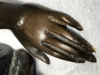 Art Deco Original Cold Painted Bronze Erotic Nude Lady Sculpture (6 of 31)
