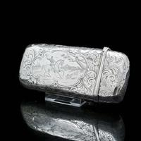 Victorian Solid Silver Cheroot / Cigar Case with a Hand-Engraved Hunting Scene - Alfred Taylor 1853 (8 of 15)