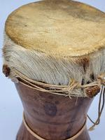 Small Handcrafted African Bongo with Genuine Hide (6 of 8)