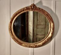 Large French Rococo Oval Gilt Wall Mirror (4 of 9)