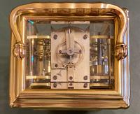Good Late 19th Century French Carriage Clock with Alarum by the Famous Maker Alfred Drocourt (4 of 5)