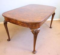 Quality Antique Burr Walnut Dining Table (6 of 14)