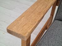 Danish Design by H.J.Wegner, GE 163a, Armchair, Oak, 70s, Furniture Wool, Renovated (6 of 9)
