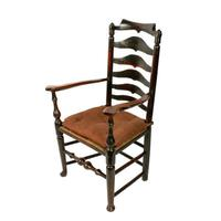 Georgian Elm Macclesfield Arm Chair (2 of 8)