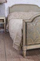 Original French upholstered king size bed with matching bedsides (5 of 9)