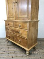 Antique Pine Cupboard with Drawers (9 of 11)
