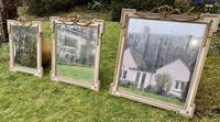 Set of Three Painted & Gilt Mirrors (6 of 9)