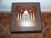 Anglo Indian hardwood table. Taj Mahal