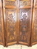 Chinese Elm Carved Screen (5 of 13)