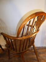 Matched Pair of Yew Windsor Chairs (8 of 13)