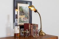 Good Brass Gooseneck Desk Lamp c.1915 (2 of 8)