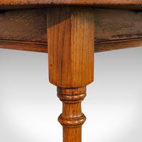 Antique Circular Occasional Table, English, Oak, Side, Lamp, Edwardian, C.1910 (5 of 12)