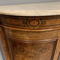 English burr walnut Credenza with Carrara marble top (4 of 10)