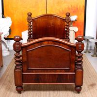Bed Frame Edwardian Carved Mahogany Barley Twist (3 of 11)