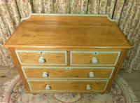 Victorian Stripped Pine Chest of Drawers Sage Painted Trim (2 of 8)