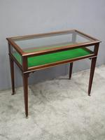 Sheraton Style Inlaid Mahogany Bijouterie Cabinet / Table (2 of 7)