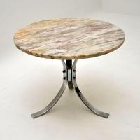 1960's Vintage Marble & Chrome Coffee Table (2 of 8)