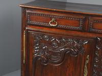 Antique Northern French Carved Oak Side Cabinet (6 of 15)