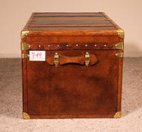 English Travel Chest in Leather - Early 20th Century (5 of 11)