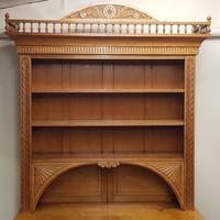 Oak Arts & Crafts Aesthetic, Cabinet Bookcase (3 of 10)