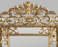 Large 19th Century Carved Giltwood Marginal Overmantle Mirror (2 of 16)