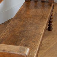 Charming Late Victorian Oak Hall Settle Bench (3 of 11)