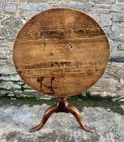 Large Georgian Oak Tilt Top Occasional Table (16 of 21)