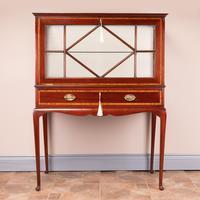 Inlaid Mahogany Display Cabinet (11 of 12)